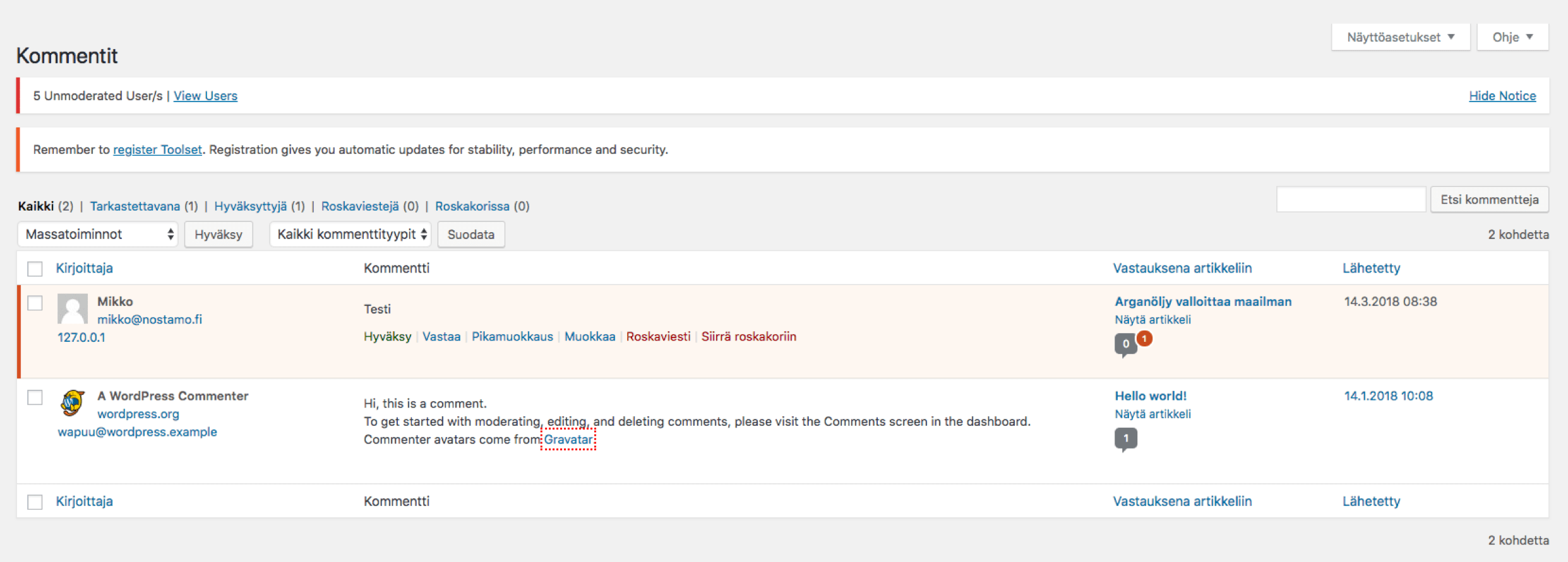 wordpress-opas-kommentit