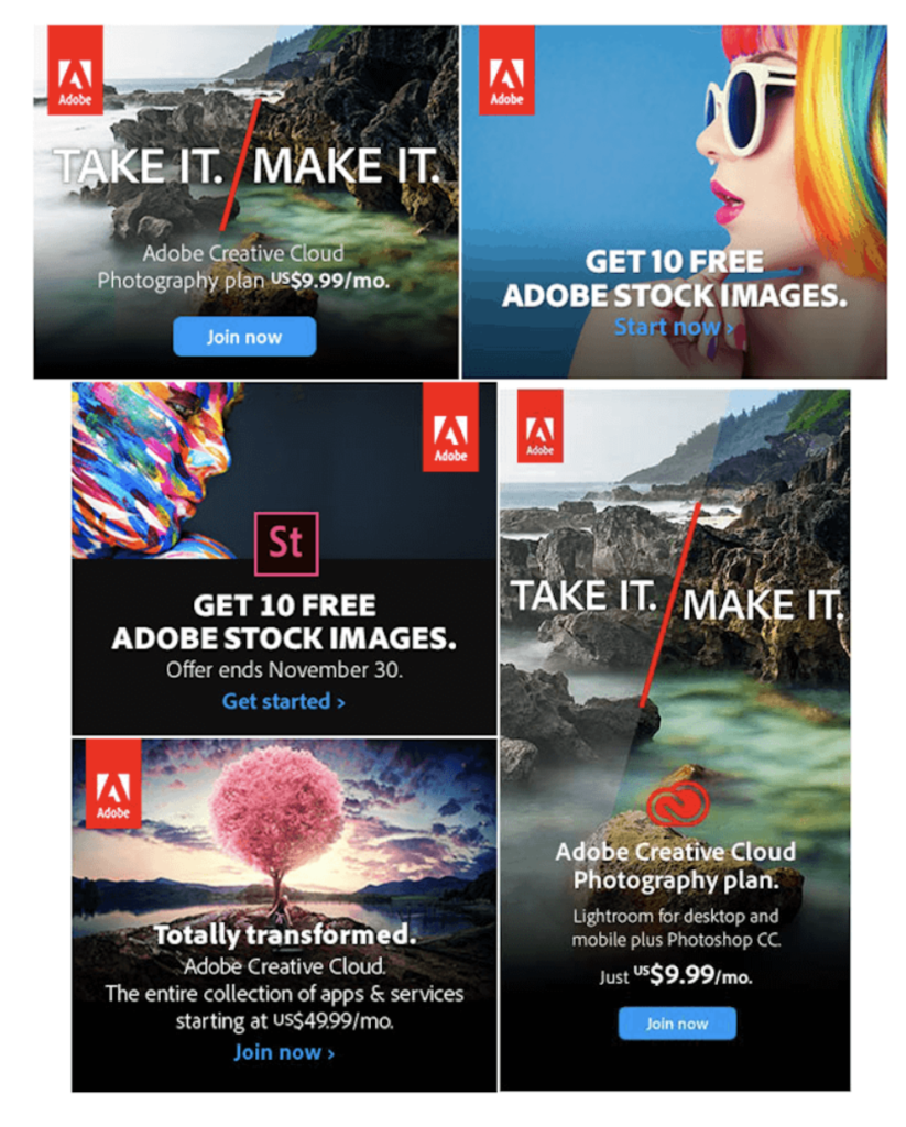 Display-mainonta: esimerkkimainoksia