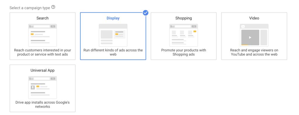 Display-mainonta: kampanja-asetukset