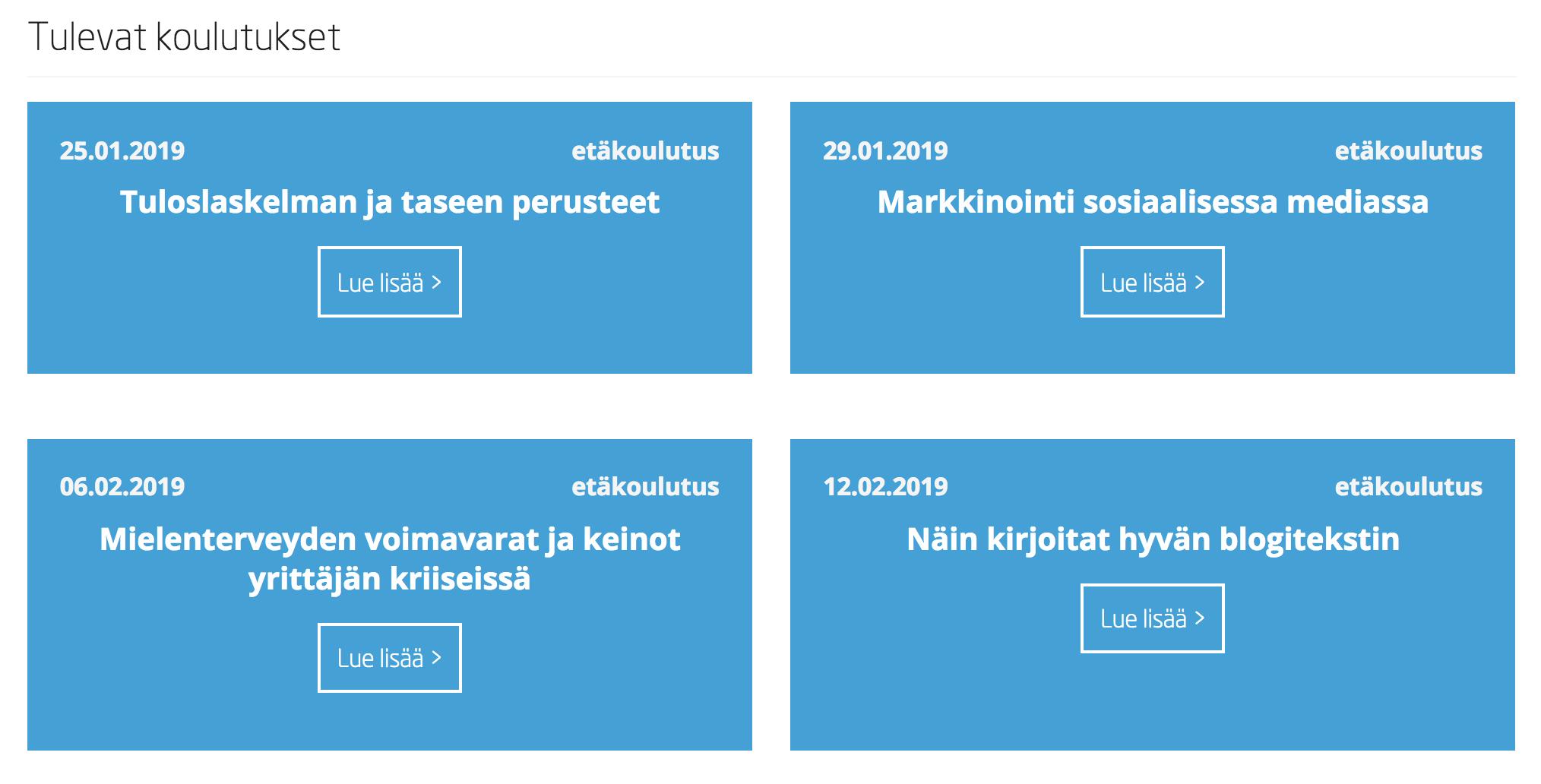 Sisältömarkkinointi - webinaarit